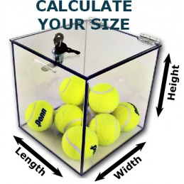 """1/4"""" Thick Acrylic 5-Sided Box With Cam Lock Lid"""