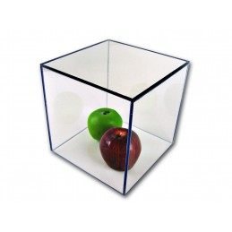 "4""x 4""x 4""- 3/16"" Thick Acrylic Display Boxes W/ Clear Bases"