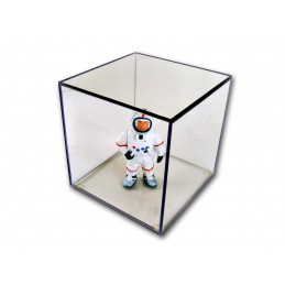 """14""""x 14""""x 14""""- 1/4"""" Thick Acrylic Display Boxes W/ Clear Bases"""