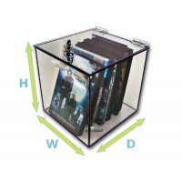 "1/4"" Thick Clear Acrylic Box With Camlock"