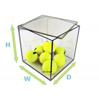 "1/4"" Thick Acrylic 5 Sided Box w/ Removable Top Lid"