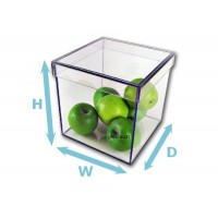 "3/16"" Thick Acrylic 5-Sided Box w/ Shoebox Lid"