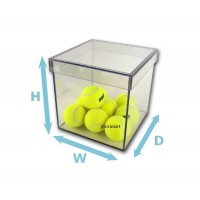 "1/4"" Thick Acrylic 5-Sided Box w/ Shoebox Lid"