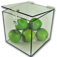 Acrylic 5-Sided Box w/ Hasp Lock Lid