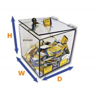 "1/8"" Thick Clear Acrylic Lockable Ballot Box"