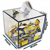 "1/4"" Thick Clear Acrylic Lockable Ballot Box"