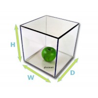 "1/8"" Thick Acrylic Display Boxes W/ Clear Bases"
