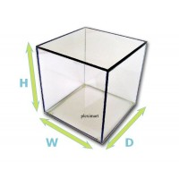"1/4"" Thick Acrylic Display Boxes W/ Clear Bases"