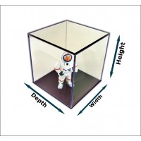 """1/4"""" Thick Acrylic Display Boxes W/ Black Bases"""