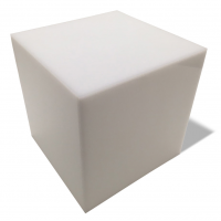 "3/16"" Thick White Acrylic 5-Sided Box"