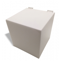 "3/16"" White Acrylic 5-Sided Box w/ Hinged Lid"