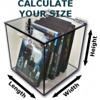 """3/16"""" Thick Acrylic Box With Cam Lock Lid"""